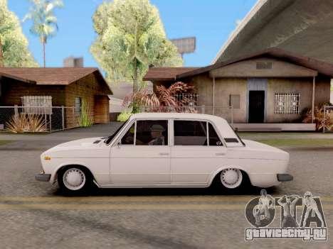 ВАЗ 2106 Classic для GTA San Andreas вид сзади слева