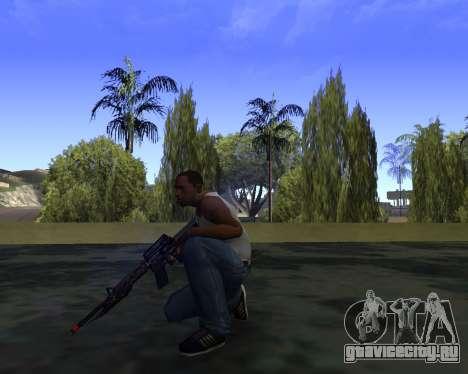 M4A1 Cross Fire для GTA San Andreas третий скриншот