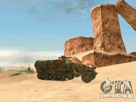 Sd Kfz 251 Пустынный Камуфляж для GTA San Andreas вид слева