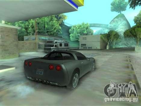 Chevrolet Corvette C6 для GTA San Andreas вид слева