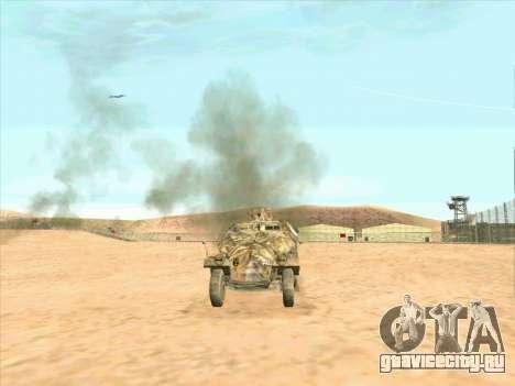 Sd Kfz 251 Пустынный Камуфляж для GTA San Andreas вид сзади слева
