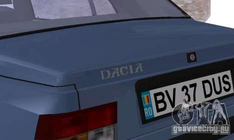 Dacia Super Nova для GTA San Andreas вид снизу