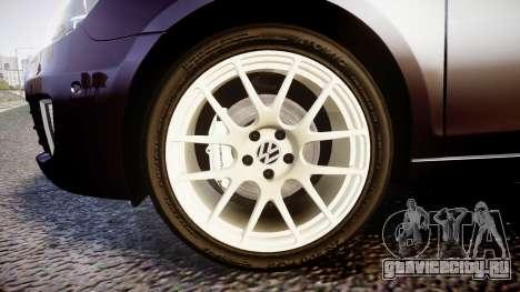 Volkswagen Golf Mk6 GTI rims2 для GTA 4 вид сзади