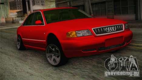 Audi A8 2000 для GTA San Andreas вид сзади