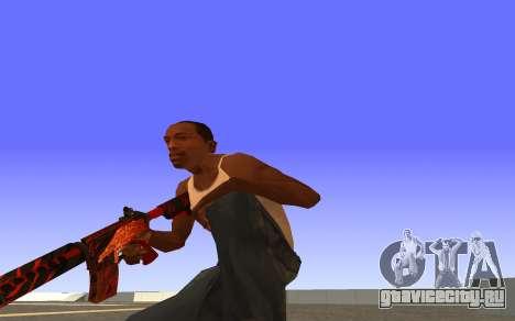 M4A4 Вой CS:GO для GTA San Andreas третий скриншот