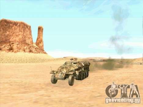 Sd Kfz 251 Пустынный Камуфляж для GTA San Andreas вид справа