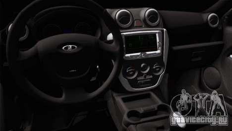 Lada Granta Sport для GTA San Andreas вид сзади