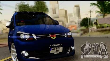 Volkswagen Caddy v1 для GTA San Andreas вид сзади слева