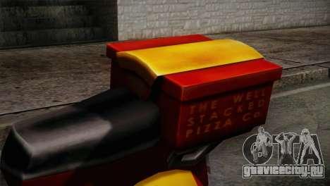Original Pizzaboy IVF для GTA San Andreas вид сзади