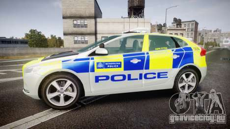 Volvo V40 Metropolitan Police [ELS] для GTA 4 вид слева