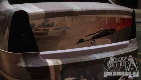Dacia Logan Most Wanted Edition v3 для GTA San Andreas вид сзади
