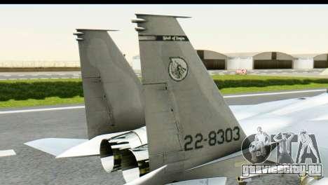 F-15J Mitsubishi Heavy Industries для GTA San Andreas вид сзади слева