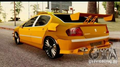 Peugeot 407 Sport Taxi для GTA San Andreas вид слева