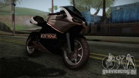 GTA 5 Bati Police для GTA San Andreas вид сзади