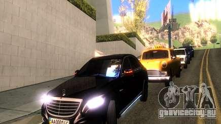 Mercedes-Benz Long S65 W222  Black loaf для GTA San Andreas