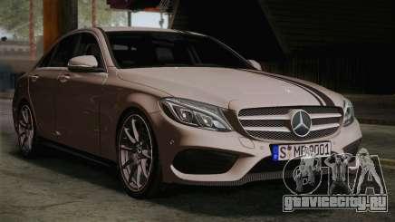 Mercedes-Benz C250 AMG Edition 2014 EU Plate для GTA San Andreas