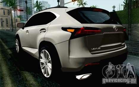 Lexus NX 200T v5 для GTA San Andreas вид слева