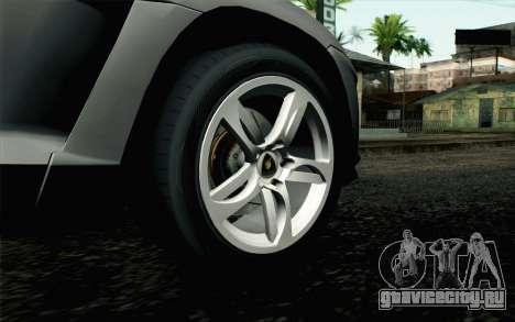 Lamborghini Urus Concept для GTA San Andreas вид сзади слева