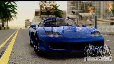 Noble M600 2010 IVF АПП для GTA San Andreas вид изнутри