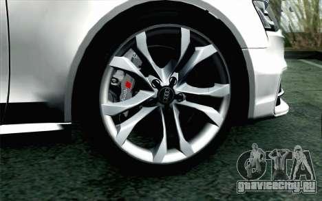Audi S4 Avant 2013 для GTA San Andreas вид сзади слева
