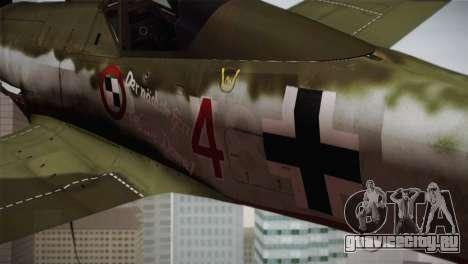 FW 190 D-11 Red 4 JV44 для GTA San Andreas вид справа