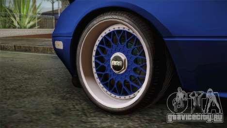 Mazda Miata Cabrio v2 для GTA San Andreas вид сзади слева