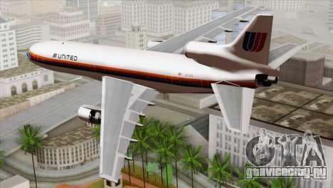 Lookheed L-1011 United Als для GTA San Andreas вид слева