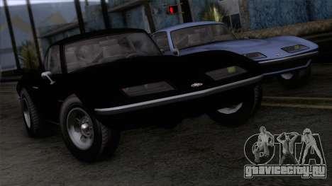 GTA 5 Invetero Coquette Classic HT IVF для GTA San Andreas вид сзади