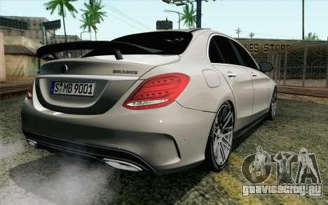 Mercedes-Benz C250 AMG Brabus Biturbo Edition EU для GTA San Andreas вид слева