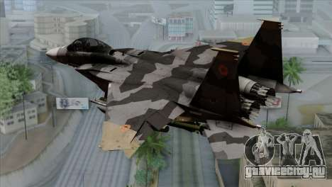 F-15E Yellow Squadron для GTA San Andreas вид слева