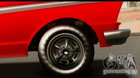 GTA 5 Vapid Blade v2 для GTA San Andreas вид сзади