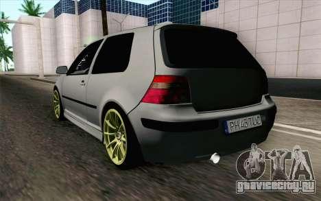 Volkswagen Golf Mk4 2002 Street Daily для GTA San Andreas вид слева