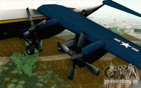 C-130H Hercules Blue Angels для GTA San Andreas вид справа