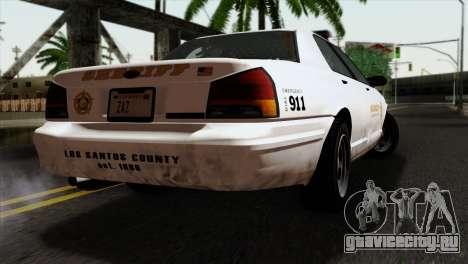 GTA 5 Vapid Stanier Sheriff для GTA San Andreas вид слева
