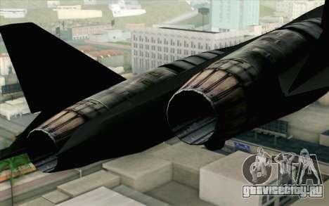 Sukhoi PAK-FA China Air Force для GTA San Andreas вид сзади