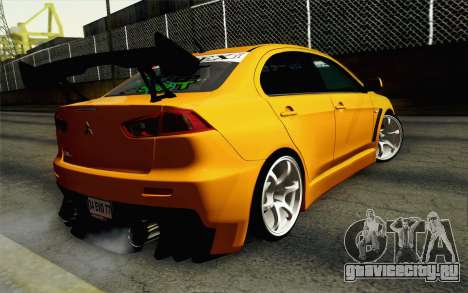 Mitsubishi Lancer Evolution X v2 для GTA San Andreas вид слева