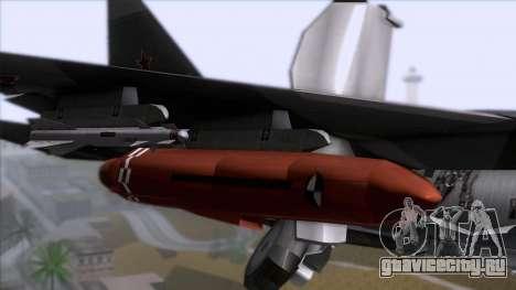Sukhoi T-50 PAK FA Akula with Trinity для GTA San Andreas вид сзади
