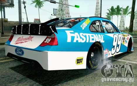 NASCAR Ford Fusion 2012 Plate Track для GTA San Andreas вид слева