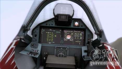 Sukhoi T-50 PAK FA Akula для GTA San Andreas вид сзади