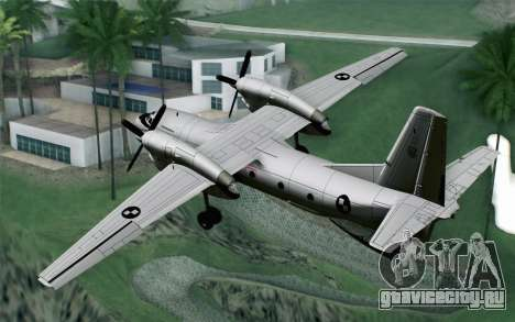 AN-32B Croatian Air Force Opened для GTA San Andreas вид слева