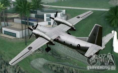 AN-32B Croatian Air Force Opened для GTA San Andreas вид слева
