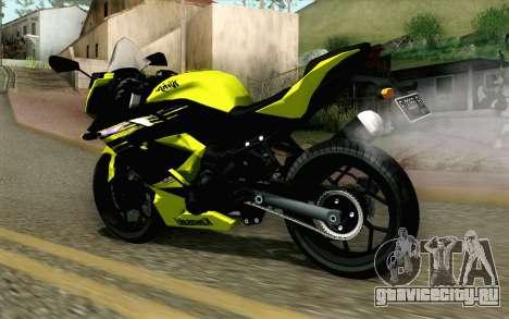 Kawasaki Ninja 250RR Mono Yellow для GTA San Andreas вид слева