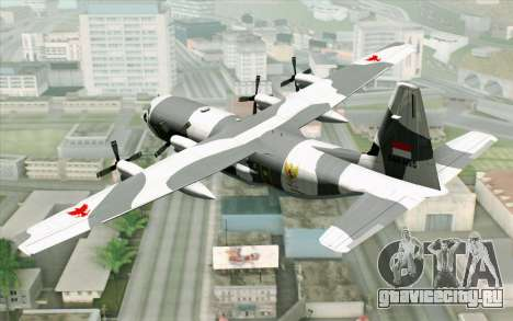 Lockheed C-130 Hercules Indonesian Air Force для GTA San Andreas вид слева