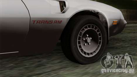 Pontiac Trans AM для GTA San Andreas вид сзади слева