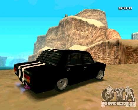 ВАЗ 2107 КОРЧ для GTA San Andreas вид сзади