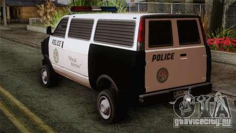 GTA 5 Police Transporter для GTA San Andreas вид слева