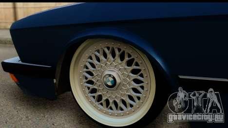 BMW M5 E28 для GTA San Andreas вид сзади