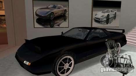 Beta ZR-350 Final для GTA San Andreas вид изнутри