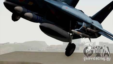 F-14 Japan Air Self Defense Force для GTA San Andreas вид сзади