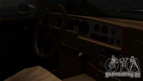 Pontiac Trans AM Interior для GTA San Andreas вид сзади
